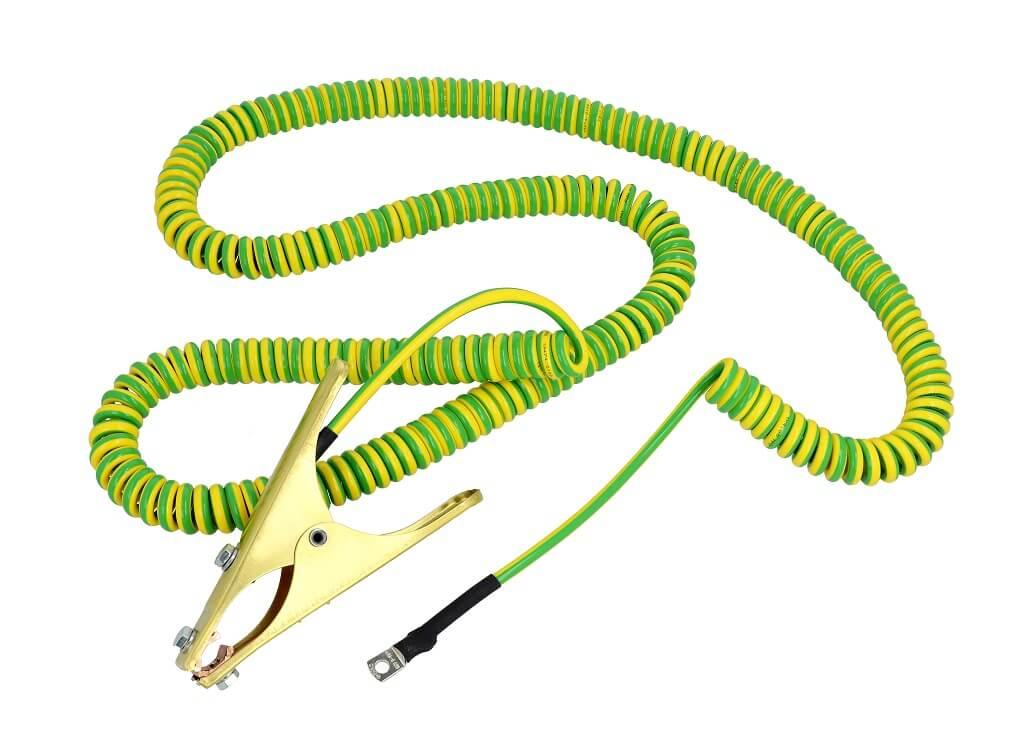Kabel, przewód spiralny/uziemiajacy