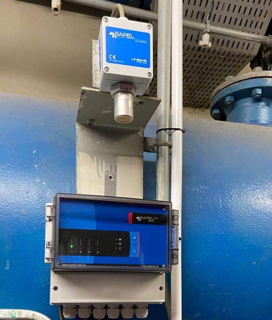 system detekcji gazu - Montaż
